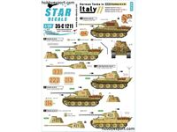 Immagine di 1/35 DECAL (DECAL) German Tanks In Italy No11. Panther A And G Panther Ausf.A, Panther Ausf.G And Befehls Panther Ausf.A. Pz Reg.4 And Pz Reg. 26.
