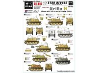 Immagine di 1/35 DECAL (DECAL) Grille Ausf.H Sd.Kfz.138.1. 15cm sIG 33.1 auf Pz.Kpfw 38t. Ostfront, Italy And Balkans