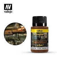 Immagine di VALLEJO WEATHERING olio motore- brown engine soot- huile de mteur 40 ML