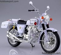 Picture of Aoshima  	1/12 DIE CAST HONDA CB750 FOUR (K0) POLICE MOTORCYCLE