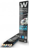 Picture of WATERCOLOR PENCIL SET GREY AND BLUE CAMOUFLAGES