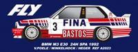 Immagine di BMW M3 E 30 n.3 - 2nd 24H Spa 1992 - E. Van de Poele, J. Winckelhock, A. Heger