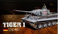 Immagine di 1/16 RC German Tiger I Heavy Tank, metal arm, infrared battling system, stell wave box