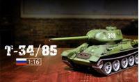 Immagine di 1/16 RC Soviet Union T-34/85 RC Medium tank, metal arm, infrared battling system, stell wave box