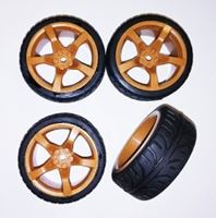Picture of 1/10 On road 5 spoke tire set brown (4 pcs)