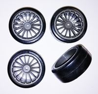 Picture of 1/10 Drift 15 spoke tire set grey (4 pcs)