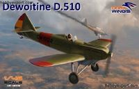 Immagine di DORAWINGS  	1/48 KIT DEWOITINE D510 SPANISH CIVIL WAR BONUS