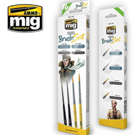 Picture of AMMO MIG  Figures Brush Set PENNELLI PER FIGURE