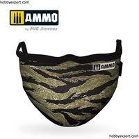 Picture of AMMO  Tiger Camo AMMO Face Mask