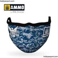 Picture of AMMO  Navy Blue Camo AMMO Face Mask