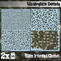 Immagine di N/A DECAL  Waterslide Decals Hex Forest Camo