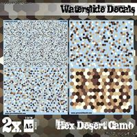 Immagine di N/A DECAL  Waterslide Decals Hex Desert Camo