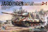 Immagine di TAKOM   1/35 KIT JAGDTIGER EARLY,LATE PRODUCTION (2 IN 1)