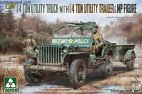 Immagine di TAKOM  1/35 KIT 1,4 TON UTILITY TRUCK WITH 1,4 TON UTILITY TRAILER AND MP FIGURE