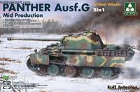 Immagine di TAKOM 1/35 KIT PANTHER AUSF G MID PRODUCTION WITH STEEL WHEELS