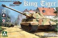 Immagine di TAKOM  1/35 KIT  KING TIGER PORSCHE TURRET SPECIAL EDITION NEW TRACK PARTS