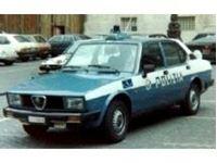 Picture of Mitica die cast model  1:18 ALFA ROMEO ALFETTA 2000 POLIZIA STRADALE 1978 POLICE BLUE WHITE