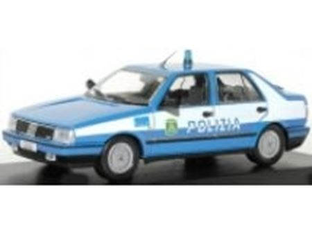 Picture of Mitica die cast model  1:18 FIAT 2.0 CHT POLIZIA 1987 POLICE LIGHT BLUE WHITE