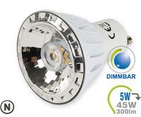 Immagine di V-TAC LED Spotlight - 5W GU10 Aluminium Natural White Dimmable