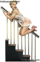 Picture of Andrea miniatures  80mm KIT  PIN UP SERIES MIND THE BANNISTER