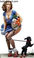 Picture of Andrea miniatures   80mm KIT PIN UP SERIES BLACK DOGGIE