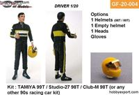 Immagine di Tamiya  1/20 KIT Driver Standing Thumbs Up 2 Options Included