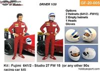 Picture of Tamiya 1/20 KIT   Driver Standing Hands On Hips 4 Options Included